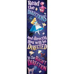 Amazon.com: Eureka Alice In Wonderland Directions Vertical Banner: Toys & Games