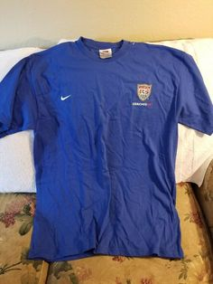 27259798a USA SOCCER SHIRT - LARGE - COACHESNET - NIKE  fashion  clothing  shoes