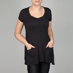 Short Sleeve Top Black now featured on Fab.