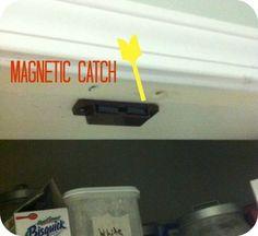 how to turn a bi fold door into a double door, closet, doors, Add Magnetic Catch