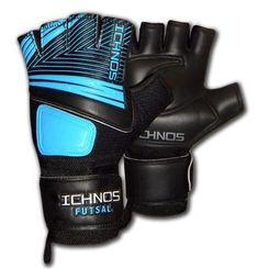Ichnos Neon Radius adult size cropped fingers futsal goalkeeper gloves