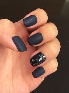 Matt dark blue w crystals