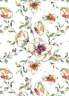 Orchard Blossom print by Katy Hackney