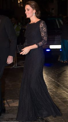 Firm favourite: The duchess also wore the elegant gown while pregnant with Princess Charl...