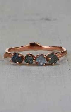 Twig Engagement Ring Montana Sapphire Ring in Yellow Gold White Gold Rose Gold or Platinum