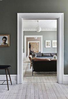 Home Interior Design Interior Walls, Home Interior, Interior Livingroom, Luxury Interior, Living Room Furniture, Living Room Decor, Wall Painting Living Room, Architrave, Scandinavian Interior Design