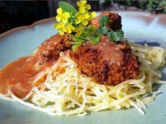 Spaghetti Squash & Chickpea Meatballs
