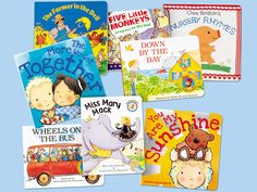 Favorite Songs & Rhymes Board Book Collection - Songs every preschooler should know!