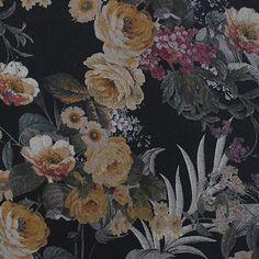 55% Viscose, 45% Linen digital floral print, medium weight. 140cm wide.