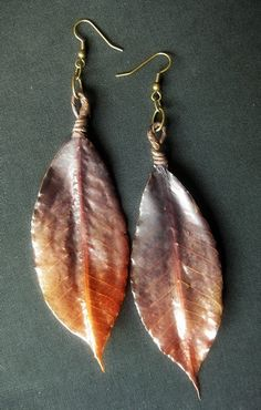 #leaves #leafonthewinddesigns #chenincamille #etsy #handmade #autumn #earrings #fashion #jewelry #accessories #natural