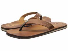 Cushe Mens Fresh M Tan Leather Thong Signature Flip-Flops Sandals 7 Medium #Cushe #FlipFlops