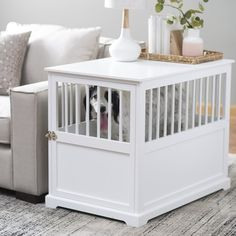 Looking for Dog Crates - Dog Crate Furniture & Large 76 - 100 lbs. Explore our selection of Dog Crates Dog Crate Furniture & Large 76 - 100 lbs. on Dog Crates at Hayneedle. Wooden Dog Crate, Wood Dog, Wood Crates, Wooden Cat, Pug, Dog Crate End Table, Dog Crate Furniture, Furniture Deals, Find Furniture