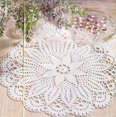 شغل ابره NEEDLE CRAFTS: باترون مفرش كروشيه - crochet doily pattern