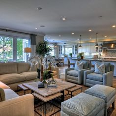 Effective living room furniture arrangements fireplaces for Large family room ideas