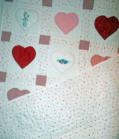 Baby hearts quilt @Hayley Knox
