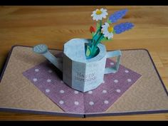 pop-up card【お花とジョウロ】watering pot - Bing video Pop Up Valentine Cards, Paper Art, Paper Crafts, Pop Up Art, Up Book, Kirigami, Paper Toys, Animal Quotes, Animal Tattoos