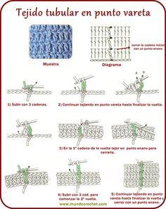 63-Tejido tubular punto vareta ✿⊱╮Teresa Restegui http://www.pinterest.com/teretegui/✿⊱╮