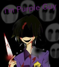 Fnaf Security Guards, Pole Bear, I'm Still Here, Quick Draw, Five Nights At Freddy's, Anime, Purple, Art, Art Background