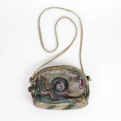 painted leather bag | wearable art