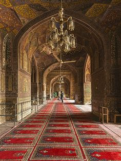 Wazir Khan mosque in Lahore, Pakistan, built in 1635 by Emperor Shah Jahan - who also built the Taj Mahal.