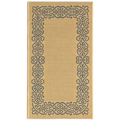 <li>Fine-spun rug is a welcome addition to any home decor <li>Rug showcases a transitional design <li>Area rug features a natural background with a blue pattern