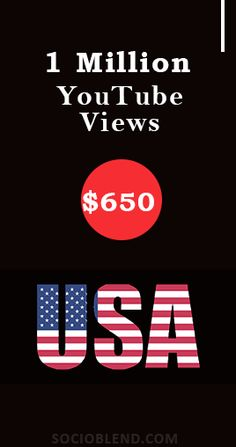 Get 1 Million Youtube views for just $650. #Increase #YouTube #Views #USA #BuyYoutubeViews