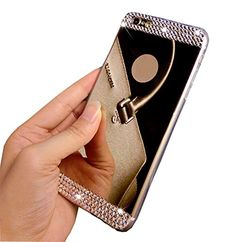 iPhone 6 Case, LA GO GO(TM) Beauty Luxury Diamond Hybrid Glitter Bling Soft Shiny Sparkling with Glass Mirror Back Plate Cover Case for Apple iPhone 6 (4.7 inch) (Gold, iPhone 6) LA GO GO http://www.amazon.com/dp/B011GOOWNY/ref=cm_sw_r_pi_dp_UbqMwb1491HCP