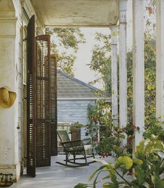 Found on urbancomfort.typepad.com     Mary Cooper's Creole cottage porch, New Orleans in Homestyle magazine