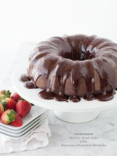Devil's Food Cake with Ganache || FoodieCrush