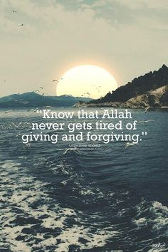 Allah! Giving and Forgiving