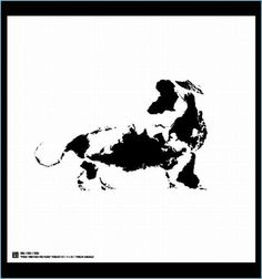 Animals Images Made From Earth's Continents and Islands #5 - Dog