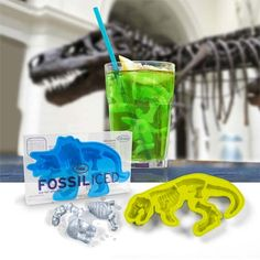Who said that ice cubes should be cube-shaped? Silicone ice cube trays can create any shape we want - from snowflakes to brains and guns. So, why not spice up your next party with one of these creative custom shaped ice cubes? Ice Cube Molds, Ice Cube Trays, Ice Cubes, Silicone Ice Trays, Jello Molds, Soap Molds, Dinosaur Bones, Dinosaur Skeleton, Dinosaur Fossils