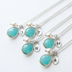 Buy Sense of Style - Crystal Drop with Personalized Initial Charm Necklace by MyFashionVille on OpenSky