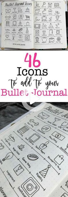 These 46 hand drawn Icons for your bullet journal are the fun new way to make note of tasks for the day. Use the examples in this blog post or make your own. *This post may contain affiliate links. Please see my Disclosure for more information. Many people regard themselves as visual learners. They do ... Read More about 46 Icons for Your Bullet Journal #bulletjournalideas Diy Bullet Journal, Bullet Journal Calendrier, Bullet Journal Planner, Bullet Journal Spread, Bullet Journal Layout, My Journal, Bullet Journal Inspiration, Journal Pages, Journal Ideas