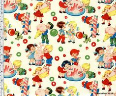 Candy Shop, Michael Miller Children's Retro Cotton Fabric. Gorgeous fabric over at FancyMoon. This is on my want list!