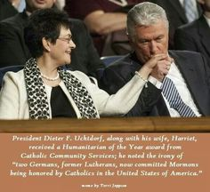 I love this picture of Pres. Uchtdorf kissing his wife's hand.  Sweet!