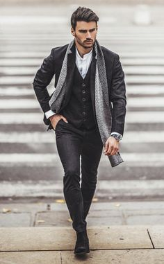 50 Men Stylish Design Ideas for Business Casual That Make Elegant Appearance and Punk - Business Outfit Classy Winter Outfits, Classy Casual, Cool Outfits, Men Casual, Casual Winter, Winter Style, Spring Outfits, Classy Man, Men's Outfits