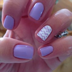 Pastel purple Easter gel nails