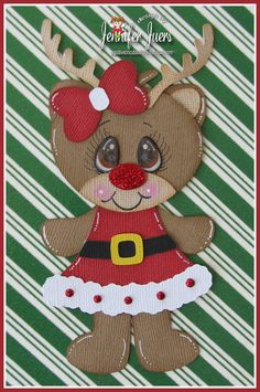 Reindeer, premade paper piecing, scrapbook page, made to order, Christmas, girl, scrapbook page, border, layout, album on Etsy, $5.99