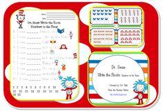 The Teacher Tattles: Dr. Seuss Write the Room Freebie