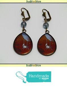 Boucles d'oreilles rétro résine Fille Balançoire Lune marron blanc bleu laiton bronze perles verre pendentifs gouttes 25mm attaches coquillage à partir des Lydee Deco https://www.amazon.fr/dp/B073XRVX1B/ref=hnd_sw_r_pi_dp_J5sAzbEKHWXWP #handmadeatamazon