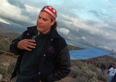Robbie Knievel leaves his jump sight on the Hualapai Reservation in Ariz., after deciding not to make the Grand Canyon Death Jump due to high winds and cold weather on Thursday, April Knievel has rescheduled the jump for May (AP Photo/ Laura Rauch) Robbie Knievel, Daredevil, Harley Davidson, Men, Sweet, Candy, Guys