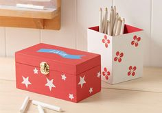 Craft Painting - Kids Back-to-School Organizers with Martha Stewart Craft Paint