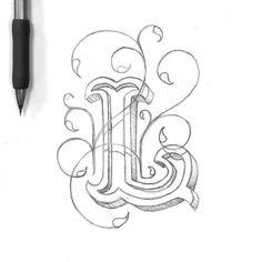 Dropcap L  __ Hand Lettering by [ts]Christer __ www.letteringsupply.com #LetteringSupplyCo.