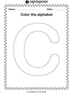 English Worksheets For Kindergarten, Letter Worksheets, Writing Worksheets, Worksheets For Kids, Coloring For Kids, Coloring Pages, Colouring, Letters For Kids, Kids Writing