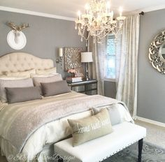 ElPetersonDesign Master Bedroom design. Elegant and chic www.elpetersondesign.com