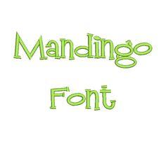 $2.95 Mandingo Machine Embroidery Font in 3 Sizes