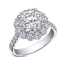 14K White Gold Diamond Halo Ring Mounting  2FSSW4062