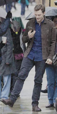 """ ""Jamie Dorky Dancer Dornan on the set of Fifty Shades Darker on March, 07. "" """