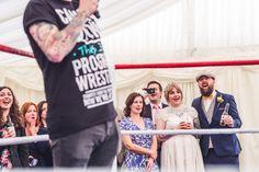 Skylark Farm wedding with live wrestling match #weddingentertainment #documentaryweddingphotography